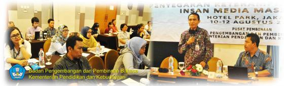 Badan Bahasa Gelar Bimbingan Teknis Kebahasaan bagi Insan Media Massa