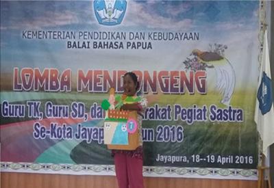 Balai Bahasa Papua Gelar Lomba Mendongeng