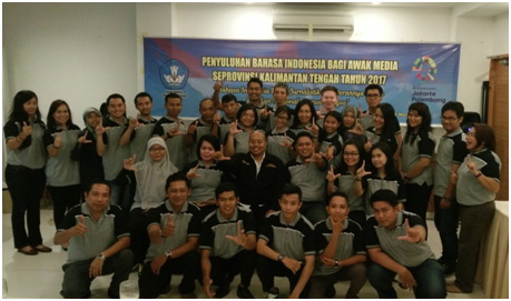 AWAK MEDIA TERIMA PENYULUHAN BAHASA INDONESIA