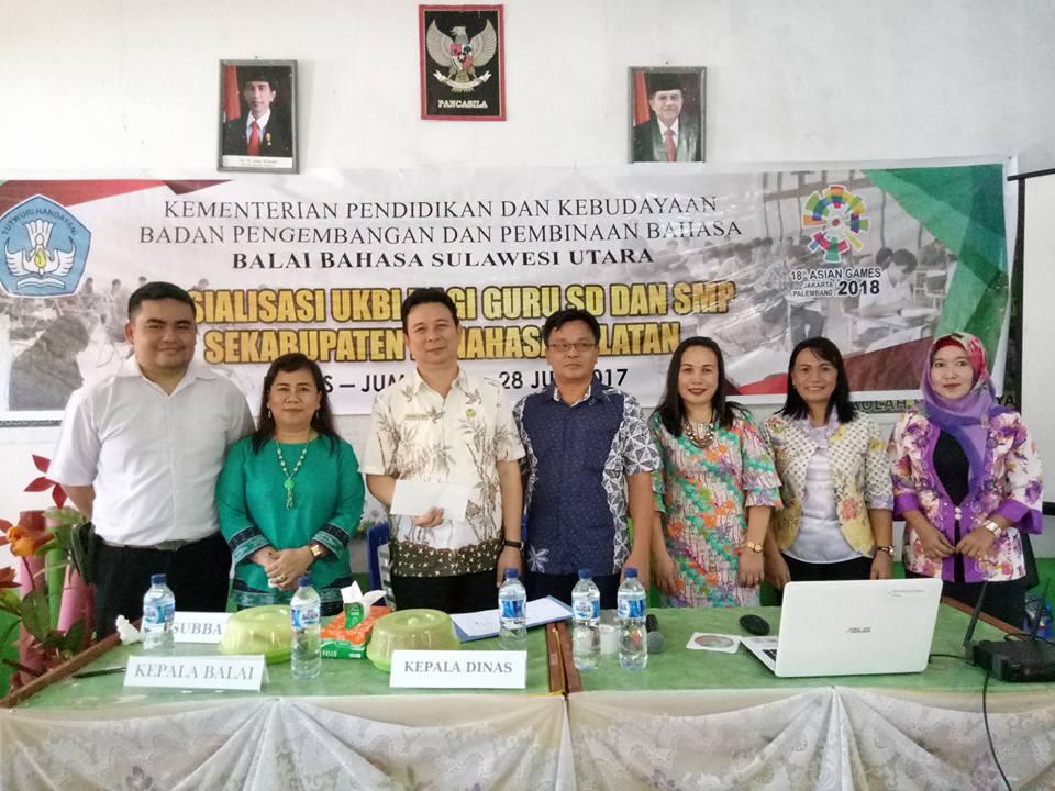 Sosialisasi UKBI bagi Guru SD dan SMP Se-Kabupaten Minsel
