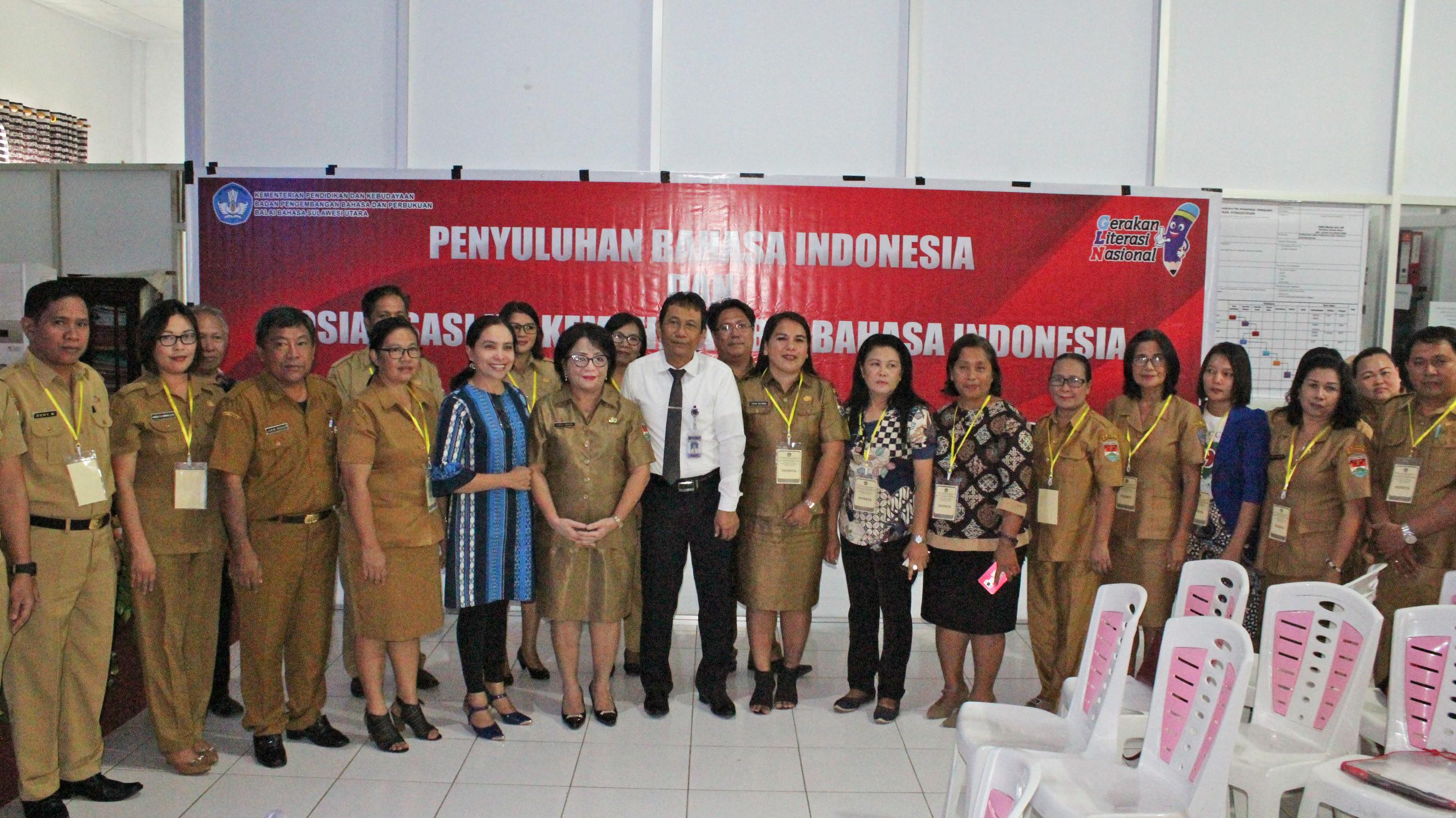 Penyuluhan Bahasa Indonesia dan Sosialisasi Uji Kemahiran Berbahasa Indonesia di Minahasa Tenggara