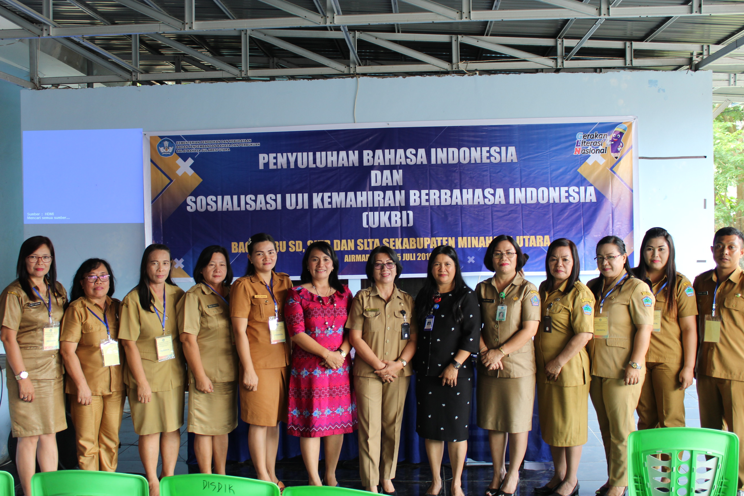 Penyuluhan Bahasa Indonesia dan Sosialisasi Uji Kemahiran Berbahasa Indonesia di Minahasa Utara