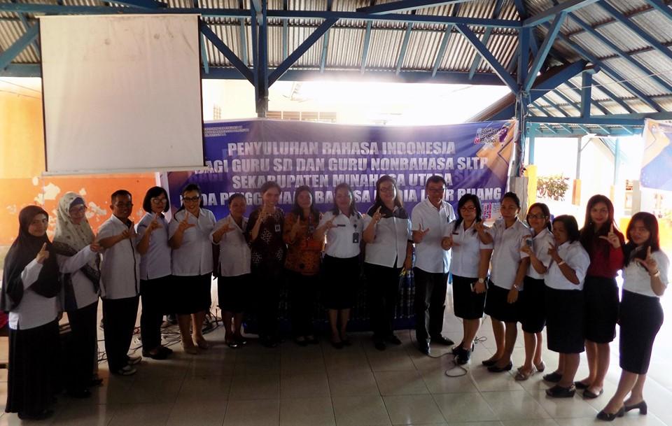 Penyuluhan Bahasa Indonesia bagi Guru SD dan Guru Nonbahasa SLTP Se-Kabupaten Minahasa Utara Tahun 2019