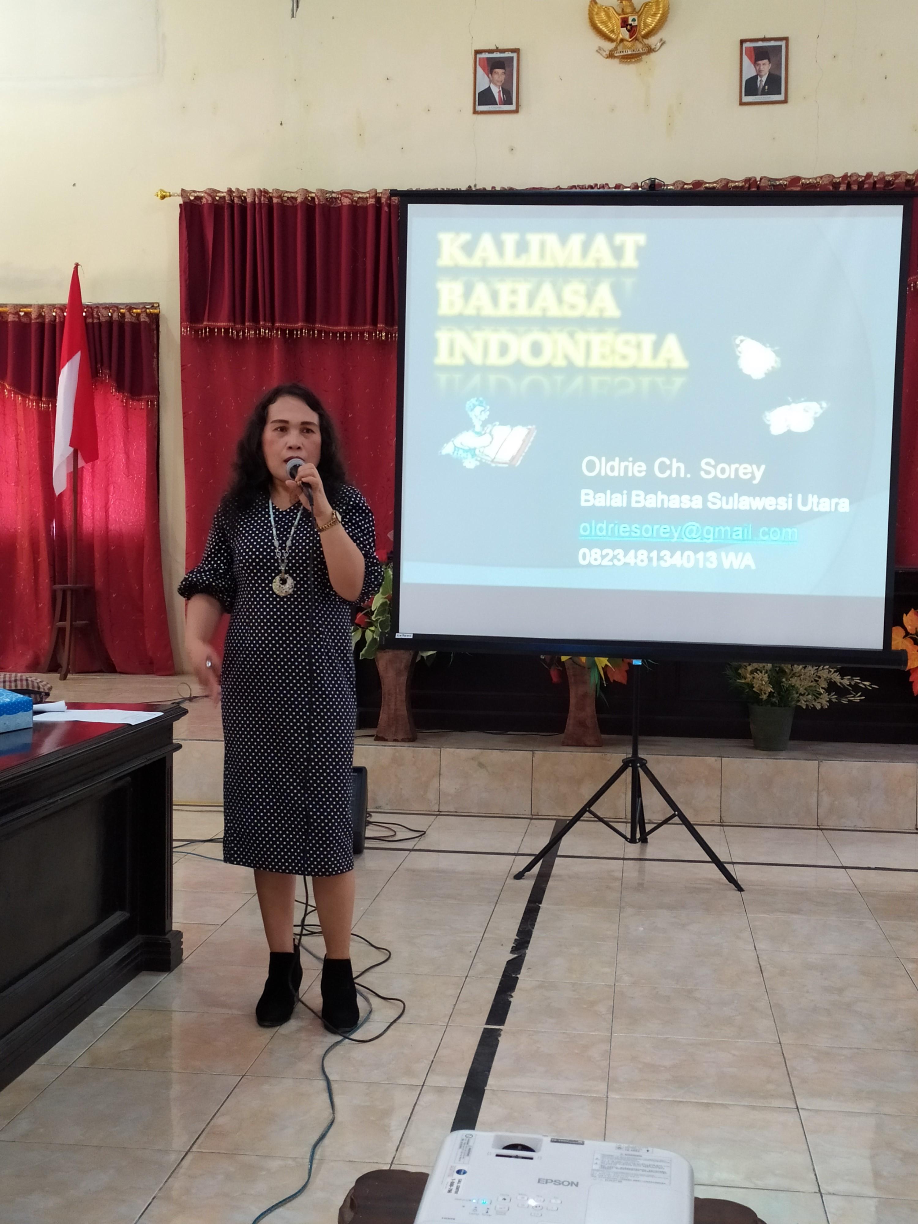 Penyuluhan Bahasa Indonesia Bagi Tenaga Administrasi Instansi Pemerintah di Kabupaten Kepulauan Talaud Tahun 2019