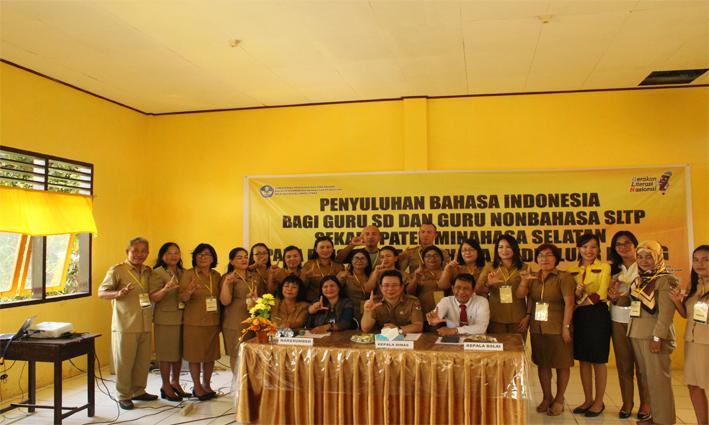 Antusiasme Peserta Penyuluhan Bahasa Indonesia Bagi Guru SD dan Guru Nonbahasa SLTP Se-Kabupaten Minahasa Selatan Pada Penggunaan Bahasa Media Luar Ruang Tahun 2019