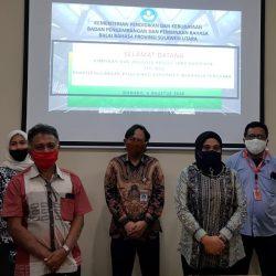 Kunjungan Pimpinan dan Anggota Pansus DPRD RANPERDA Kabupaten Minahasa Tenggara ke Balai Bahasa Sulawesi Utara